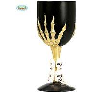 Černý pohár s lebkami, 17,5 cm - halloween - Party doplňky