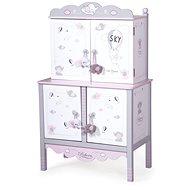 Decuevas 54835 dřevěná šatní skříň pro panenky s hracím centrem a doplňky sky 2019 - Nábytek pro panenky