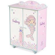 DeCuevas 55241 dřevěná šatní skříň pro panenky s doplňky ocean fantasy 2021 - Nábytek pro panenky