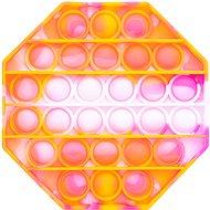 Pop it - oktagon oranžovo-růžový - Společenská hra