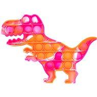 Pop it Pop it - dinosaurus oranžovo-růžový