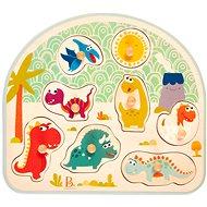 B-Toys Puzzle dřevěné s úchyty Dinosaurus