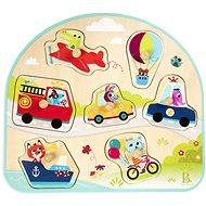 B-Toys Puzzle dřevěné s úchyty Dopravní prostředky