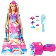 Barbie princezna s barevnými vlasy herní set - Panenka