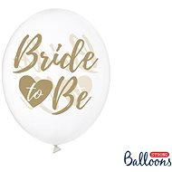 Inflatable Balloons, 30cm, Bride To Be, Transparent with Gold Lettering, 6 pcs