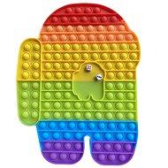 Pop it Pop It Rainbow Desková Among Us Jumbo XXL 30 cm