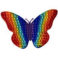Pop it Pop It Rainbow motýl Jumbo XXL 40 cm