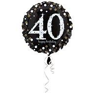 Balón foliový 40 let - happy birthday - narozeniny - 43 cm