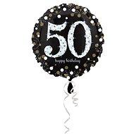 Balón foliový 50 let - happy birthday - narozeniny - 43 cm