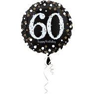 Balón foliový 60 let - happy birthday - narozeniny - 43 cm
