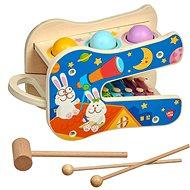 Hudební hračka Lucy & Leo 250 Hvězdné melodie - dřevěná herní sada s xylofonem a zatloukačkou