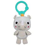 Bright Starts Hračka plyšová na C kroužku Také 'n Shake nosorožec 0 m+ - Závěsná hračka
