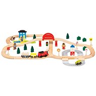 Train Set, 70pcs, for batteries - Train Set