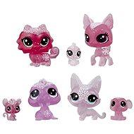 Littlest Pet Shop Zvířátka z ledového království 7ks - růžová - Herní set