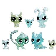 Littlest Pet Shop Zvířátka z ledového království 7ks - zelená - Herní set