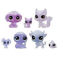Littlest Pet Shop Zvířátka z ledového království 7ks - fialová - Herní set