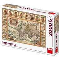 Historická mapa světa 2000  - Puzzle