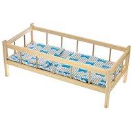Postýlka dřevěná s peřinkami - Dětský nábytek