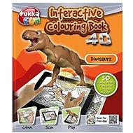Interaktivní omalovánky 4D dinosauři - Omalovánky