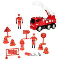 Sada hasiči - auto se žebříkem šroubovací - Auto