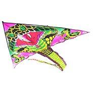 Drak létací Kobra černá nylon - Létající drak
