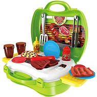 Set in a barbecue trunk - playing kit