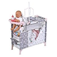 DeCuevas 53035 Skládací postýlka pro panenky s 5 funkčními doplňky SKY 2020 - Nábytek pro panenky