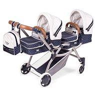 DeCuevas 80337 Skládací kočárek pro dvojčata panenky 3 v 1 s batůžkem TOP Collection 2020 - Kočárek pro panenky