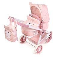 DeCuevas 80539 Skládací kočárek pro panenky 3 v 1 s batůžkem Little Pet 2020  - Kočárek pro panenky