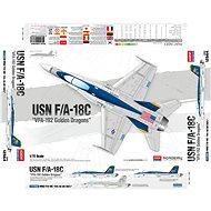 "Model Kit letadlo 12564 - USN F/A-18C ""VFA-192 Golden Dragons"" - Model letadla"