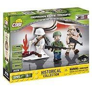 Cobi 3 figurky s doplňky Německé elitní jednotky - Stavebnice
