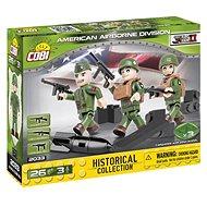 Cobi 3 figurky s doplňky Americká letecká divize - Stavebnice