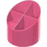 HERLITZ kulatý, 4 přihrádky, růžový - Stojánek na tužky