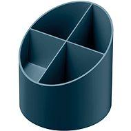 HERLITZ kulatý, 4 přihrádky, tmavě modrý - Stojánek na tužky