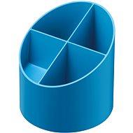 HERLITZ kulatý, 4 přihrádky, modrý - Stojánek na tužky