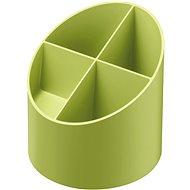 HERLITZ kulatý, 4 přihrádky, zelený - Stojánek na tužky