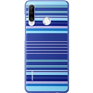 Huawei Original Colorful TPU Blue Lines Case for P30 Lite - Mobile Case
