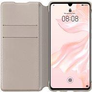 Huawei Original Wallet Pouzdro Khaki pro P30 Pro  - Pouzdro na mobilní telefon