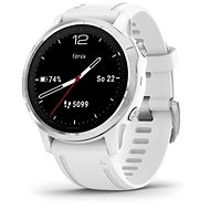 Garmin Fenix 6S, Silver/White Band - Smartwatch