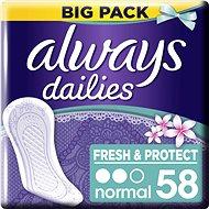 ALWAYS Fresh&Protect Normal Fresh intimky 58 ks - Slipové vložky