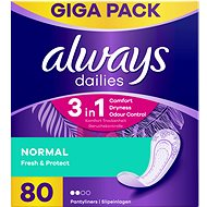 ALWAYS Dailies Fresh & Protect Normal Intimky 80 ks - Slipové vložky