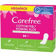 CAREFREE Cotton Aloe 76 ks - Slipové vložky