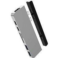 HyperDrive DUO 7 ve 2 USB-C Hub na MacBook Pro / Air, stříbrný - Replikátor portů