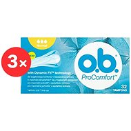 O.B. ProComfort Normal Tampons (32 ks) 2+1 - Tampony