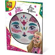 Kreativní sada SES Třpytkové tetování na obličej - kočka