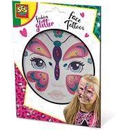 Kreativní sada SES Třpytkové tetování na obličej - motýl