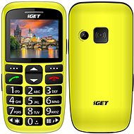 iGET Simple D7 žlutá - Mobilní telefon