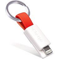 inCharge Lightning Red, 0.08m - Datový kabel