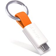 inCharge Micro USB Orange, 0.08m - Datový kabel