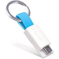 inCharge Micro USB Cyan, 0.08m - Datový kabel